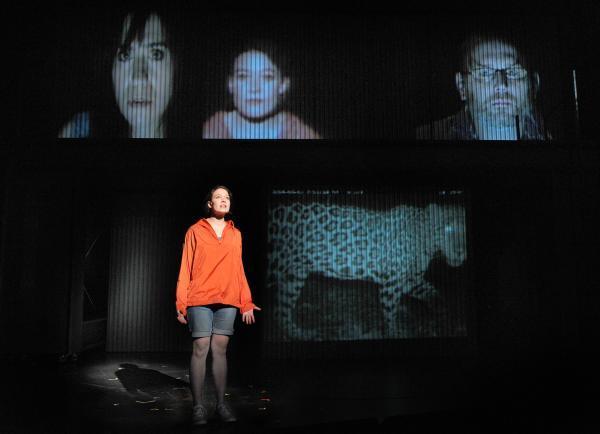 Below: Molly Carden, Above: Rebecca Hart, Molly Carden, Todd Cerveris