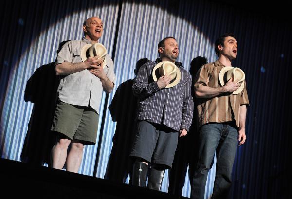 Left to right: Eddie Korbich, Todd Cerveris, Dan Domingues