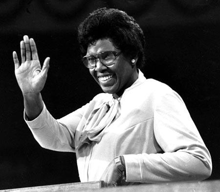 The late civil rights leader and Congresswoman Barbara Jordan.