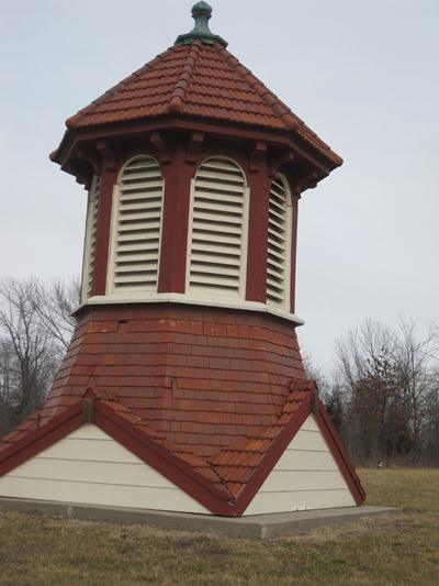 This cupola once graced the top of Longview Farms' Show Horse Arena.