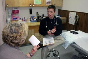 Dr. Dan Shuman moved his practice to rural Ashland, Kan., in part because he is encouraged to take time off for missionary work.