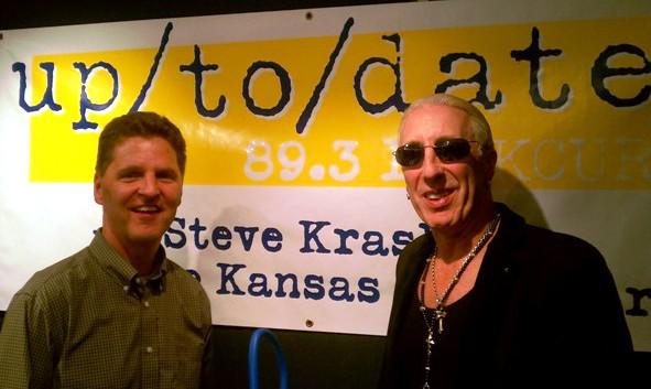 Steve Kraske and Dee Snider in the Up to Date studios