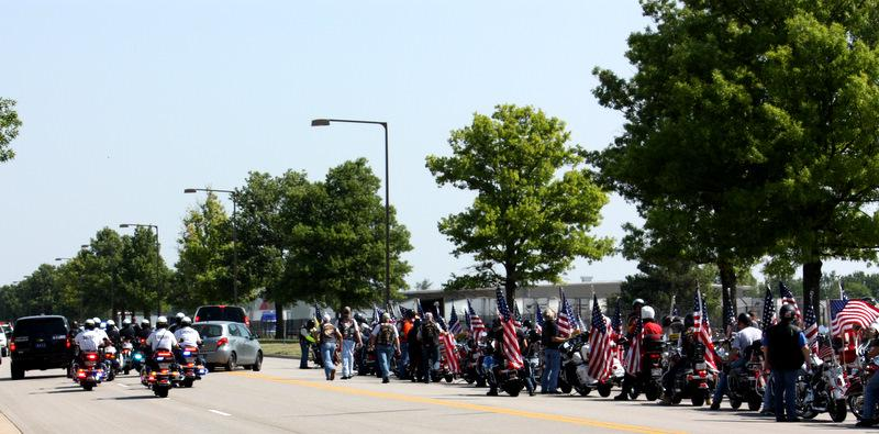 Two hundred fifty members of Patriot Guard paid tribute to SGT. Michael Knapp, killed in Afghanistan.