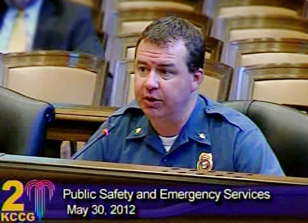Police Major Richard Lockhart reports to city council members on fatal accidents.