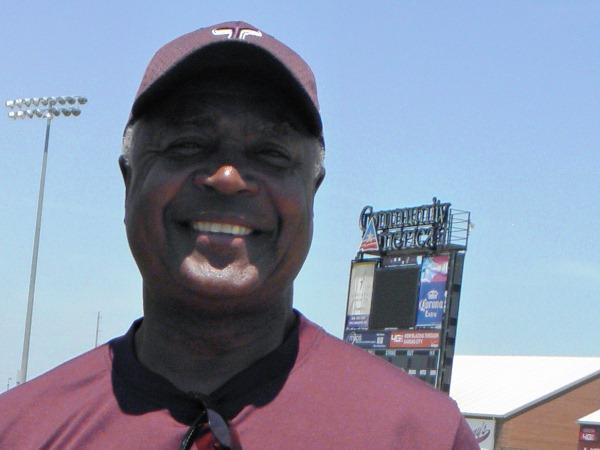 Frank White at the Kansas City T-Bones stadium.