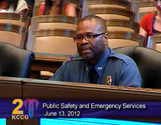 Kansas Cit Police Chief Darryl Forte went to a  City Council session to discuss a new  anti-crime program.