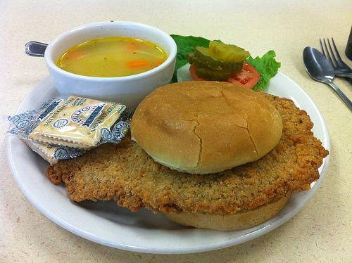 Pork Tenderloin Sandwich at the Big Biscuit, 12276 Shawnee Mission Parkway, Shawnee, KS