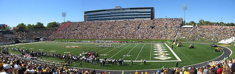 Faurot Field at the University of Missouri's Memorial Stadium.