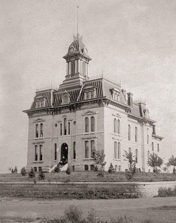 "Chase County Courthouse (1880s) ""Then"""