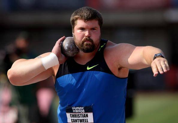 Shot putter Christian Cantwell