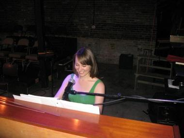 "Eryn Bates Preston at the piano for ""Titus Andronicus"""