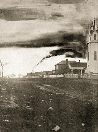 "Garnett, Kansas Tornado 1884 ""Then"""