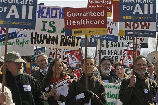 A pro-ACA protest