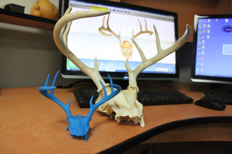 "An example of how a real object can be mapped digitally and ""printed"" using 3D printing."