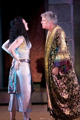 "Kim Martin-Cotten and John Rensenhouse in ""Antony and Cleopatra"""