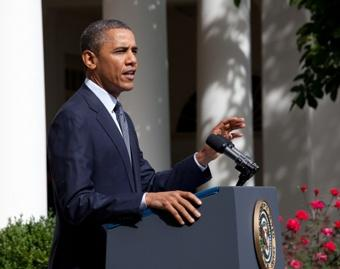 President Barack Obama delivers a statement about immigration policy Friday June 15, 2012 in the Rose Garden.