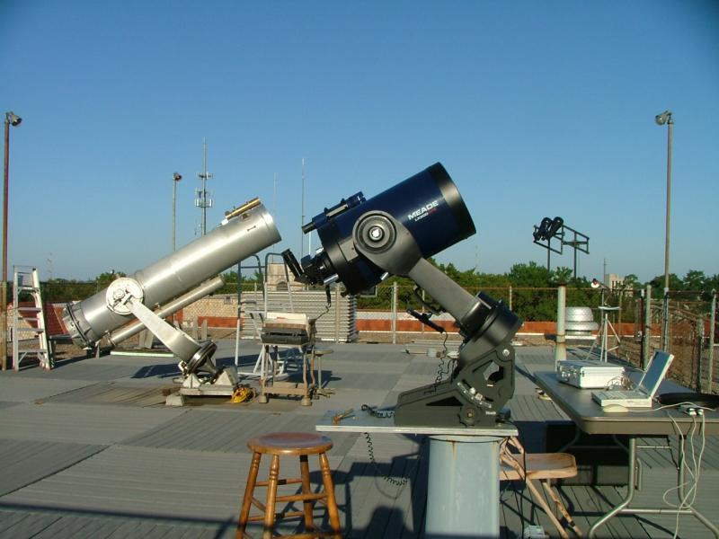 The two telescopes at the Warkoczewski Observatory.