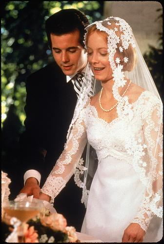 "Desi Arnez, Jr. & Amy Stryker in Robert Altman's ""A Wedding"""