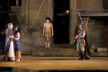"Bruce Roach (left) with co-stars in ""Antony and Cleopatra"""