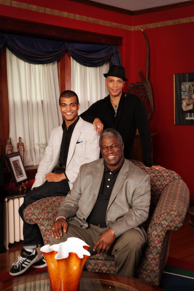 Mayor Sly James (father), Eric James (son) and Kyle James (son)