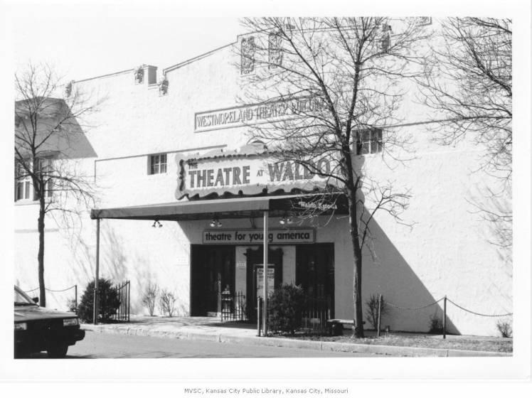 Waldo Theater, Partial frontal view; located at 7428 Washington. 1993.