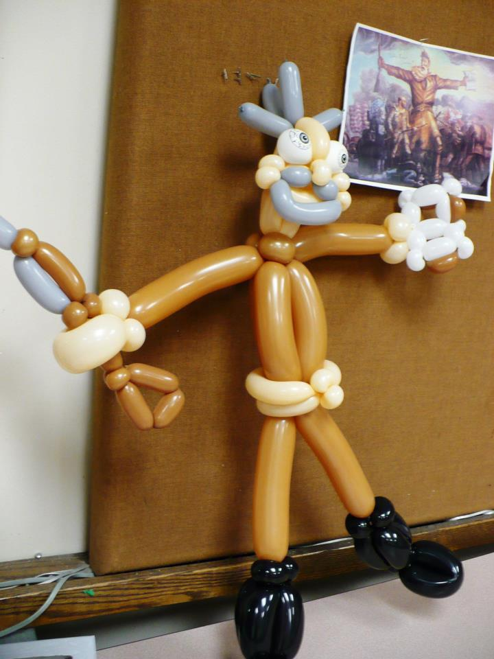 "An Up to Date listener asked balloon artist James Wiske (""The Amazing Christopher"") to twist up John Brown. Done."