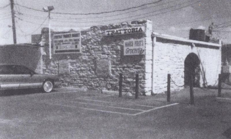 "The ""rock barn"" near 75th Street and Wornall Road--believed to be one of the first structures in Waldo--before it was demolished in 1997"