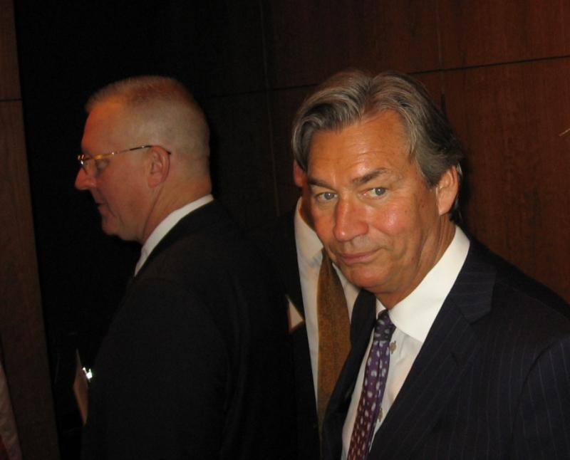 Canada's Ambassador to the U.S. Gary Doer, at right, spoke of the Keystone Pipeline at Kansas City energy forum
