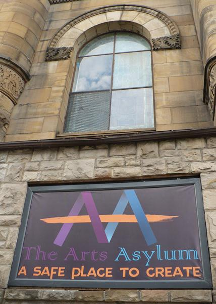 "Rehearsals for ""Pilgrimage"" took place in the basement of Arts Asylum, a collaborative arts space and former church in downtown Kansas City, Mo."