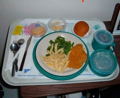 Most hospital food doesn't tend to rouse a healthy appetite