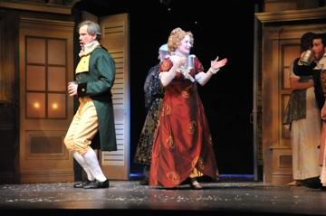 "Peggy Friesen (right) in one of her many ""A Christmas Carol"" roles at KC Rep."