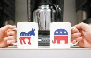 Which party's campaign workers will drink more coffee between now and November 6th?