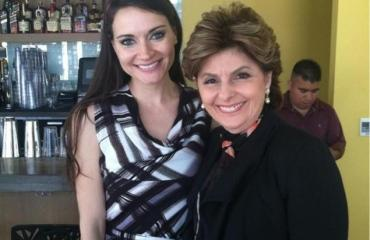 Pictured here: Society reporter for the Houston Chronicle, Sarah Tressler (on left), and her attorney, Gloria Allred, Tressler was fired after it was revealed that she worked part-time as an exotic dancer.
