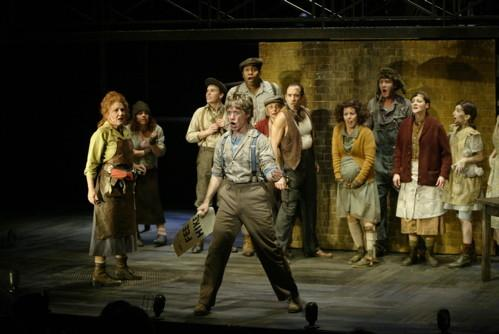 "A scene from ""Urinetown,"" the family friendly musical that satirizes government, capitalism, and corporations."