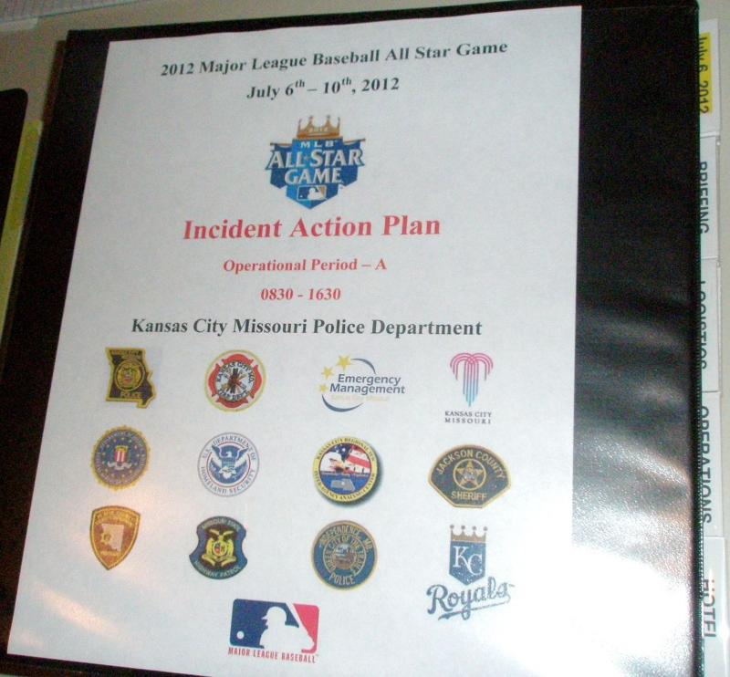 Command Center  manual details what do do  if things go wrong at All-Star Game in K.C.