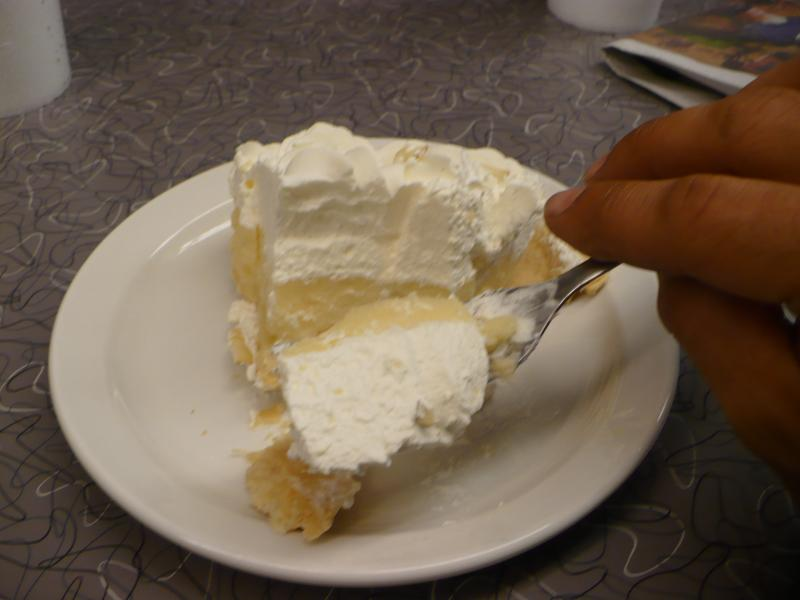 A late night snack of banana cream pie at Town Topic.