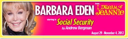 Barbara Eden stars in 'Social Security' at the New Theatre Restaurant.