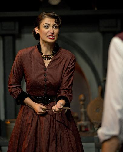 "A distressed Natalie Liccardello in :""The Mousetrap."""