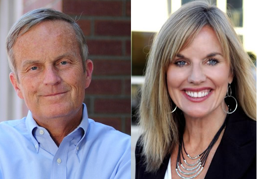 U.S. Senate candidates Congressman Todd Akin and former Missouri Treasurer Sarah Steelman
