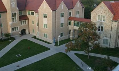 An aerial view of the University of Missouri-Kansas City.