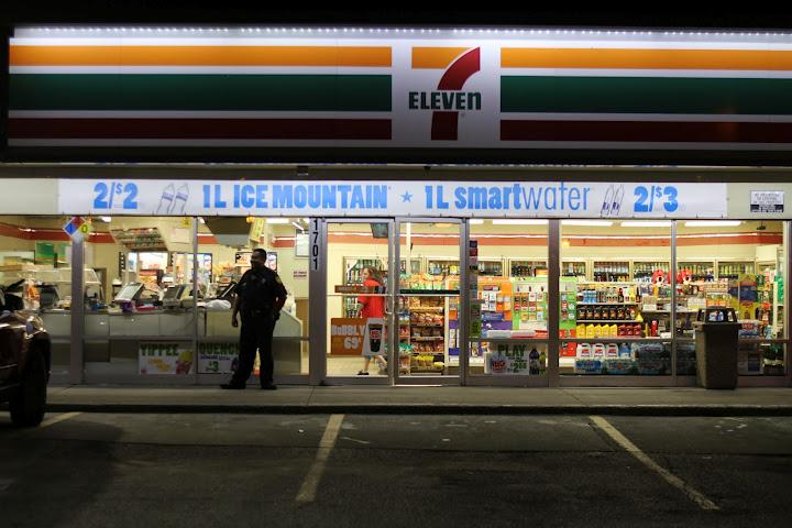 The 7-11 just east of Prospect on  Independence Avenue is a pick up and drop off point for prostitutes and an overnight  hang out for the homeless.