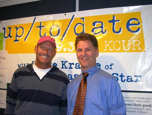 George Brett and Steve Kraske in October 2007 during Up to Date's 5th Anniversary