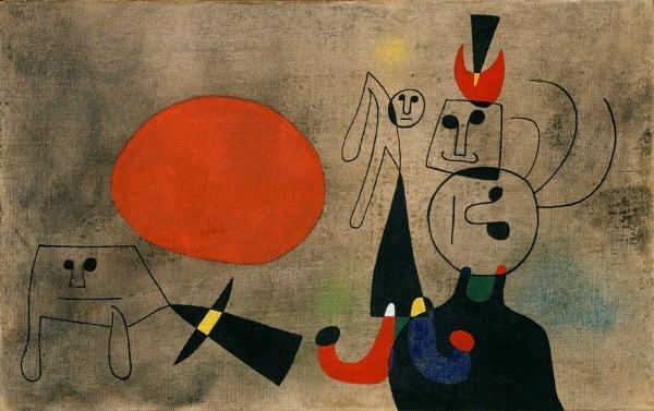 Joan Miró , Spanish, 1893-1983.  Women at Sunrise, 1946