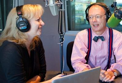 From left: Bridget Lancaster, cook, and Christopher Kimball, host of America's Test Kitchen Radio.