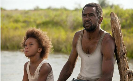 Quvenzhane Wallis as Hushpuppy and Dwight Henry as Wink in Beasts of the Southern Wild