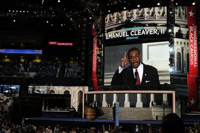 U.S. Rep. Emanuel Cleaver (MO-5) delivered an address Wednesday to the 2012 Democratic National Convention in Charlotte