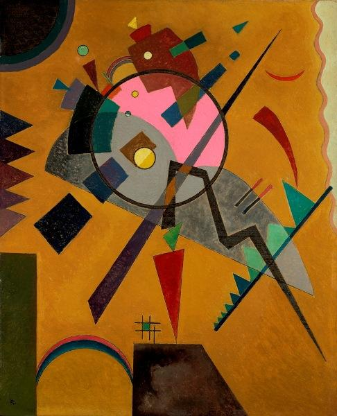 "Kandinsky is one of the artists whose works in the Nelson inspired composer Adam Schoenberg's ""Picture Studies."" Wassily Kandinsky, Russian, 1866-1944. Rose with Gray, 1924."