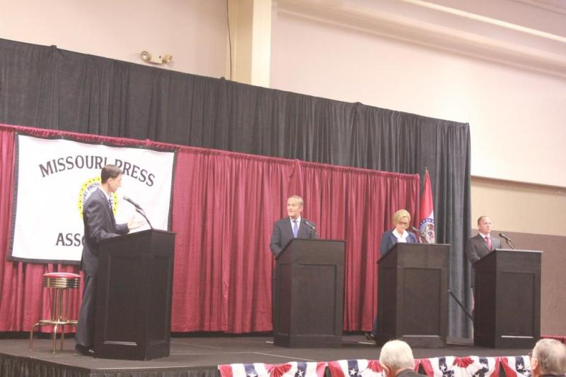 Todd Akin fields a question in Friday's debate.