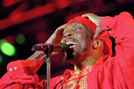 Jimmy Cliff performing in 1997.