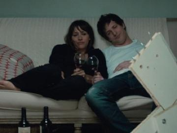 "Rashida Jones and Andy Samberg as the befuddled title characters of ""Celeste and Jesse Forever"""